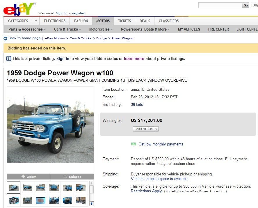 Power Wagon Ebay
