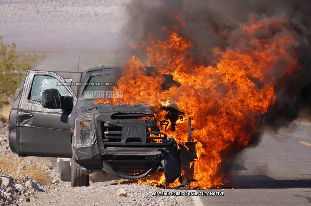 2016 Ford Super Duty Prototype Explodes During Highway Testing