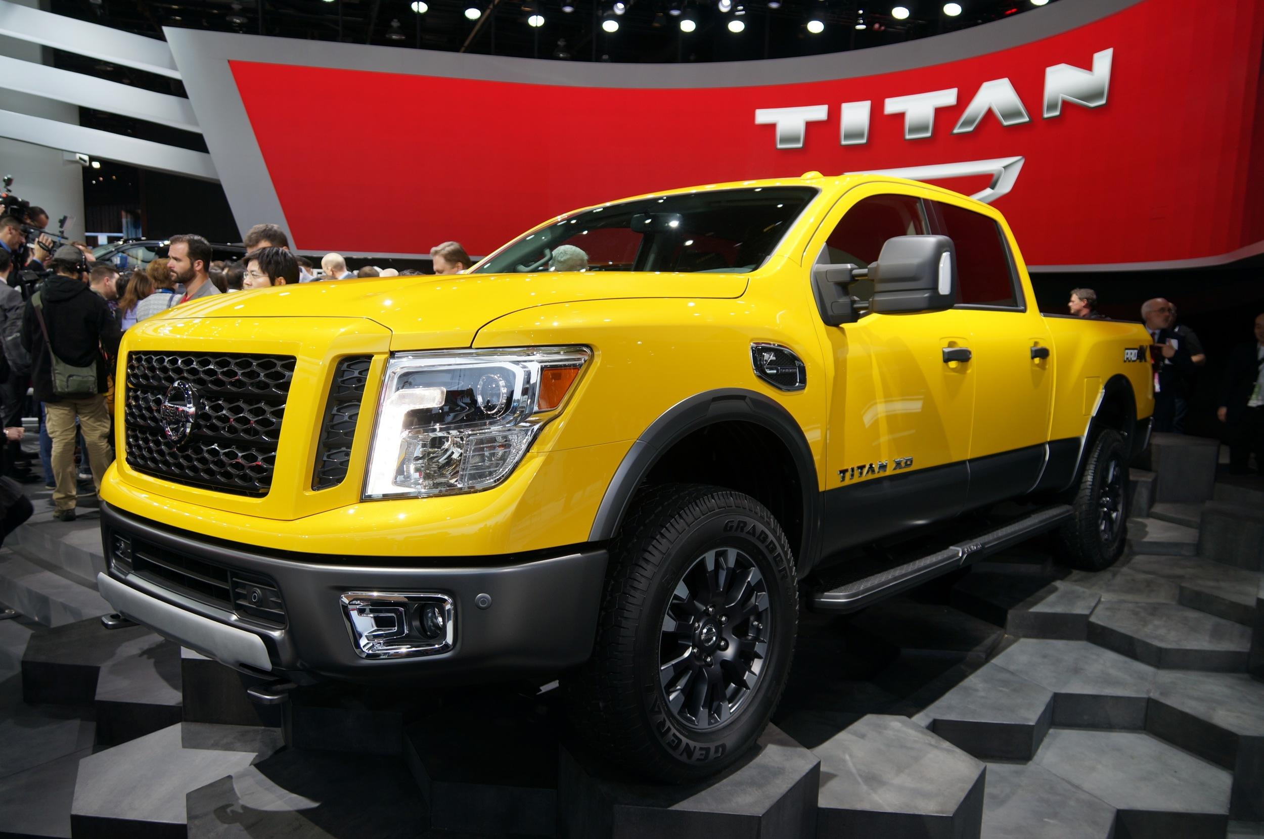 cummins powered nissan titan its official. Black Bedroom Furniture Sets. Home Design Ideas