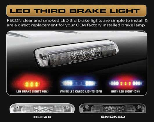Recon Led 3rd Brake Light 09 17 Dodge Ram