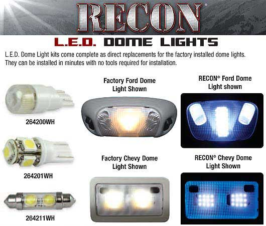 Recon Led Interior Dome Light 1999 10 Ford Superduty F250