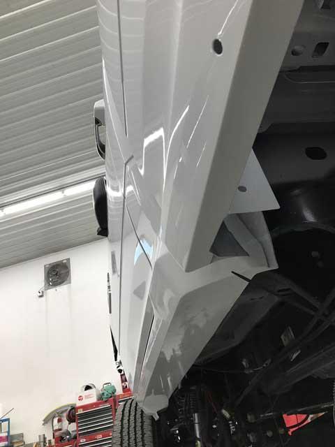 Modified Rocker Panels After Paint