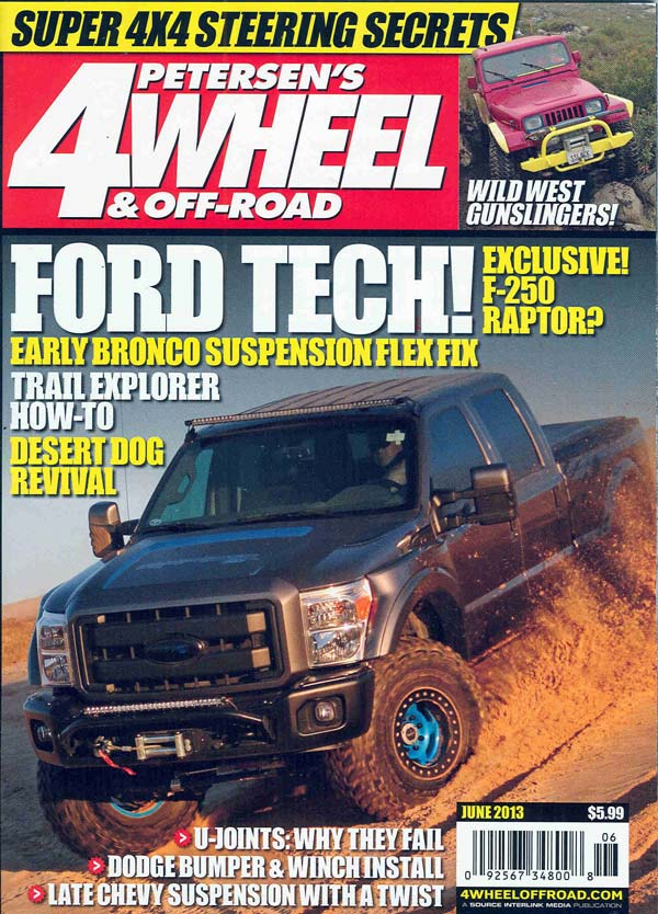 raptor sd on the cover of petersen 39 s 4 wheel off road magazine. Black Bedroom Furniture Sets. Home Design Ideas
