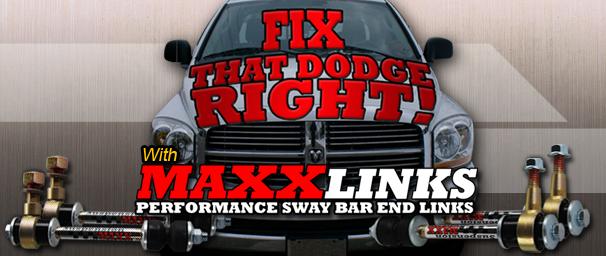 SuspensionMAXX Performance Sway Bar End Links 5 9L / 6 7L Dodge Cummins  Camper Stock 2003-2005