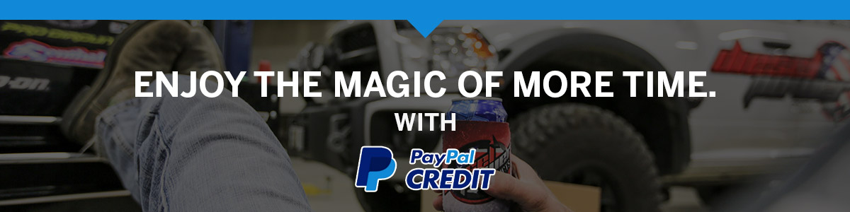 Enjoy the magic of more time - PayPal Credit with Diesel Power Products