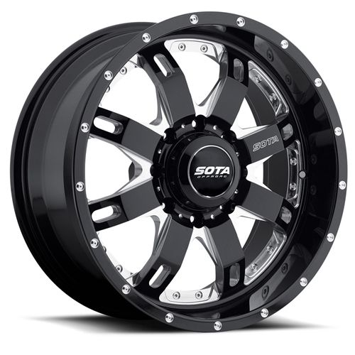 SOTA Offroad R E P R  Death Metal Black 8 Lug Wheel