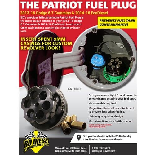 BD 1050073 Patriot Diesel Fuel Plug 13-18 6 7L Cummins / 14-18 EcoDiesel