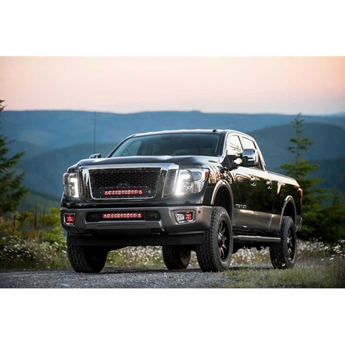 Rigid Replacement LED Grille 16-17 Nissan Titan XD