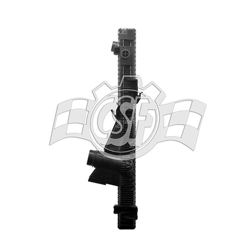 Radiator-1 Row Plastic Tank Aluminum Core CSF 3606