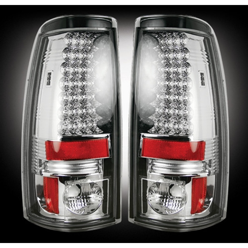 Recon 264173RBK Pair of Dark Red Smoked Rear Tail Lights for Sierra 1500 Classic