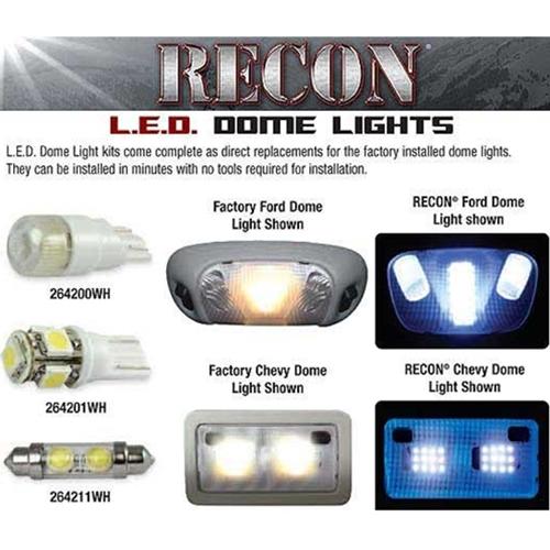 Recon Led Interior Dome Light 07 5 13 Chevy Silverado Sierra 264162
