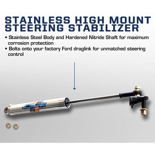 Carli High Mount Steering Stabilizer 08-16 Ford SuperDuty